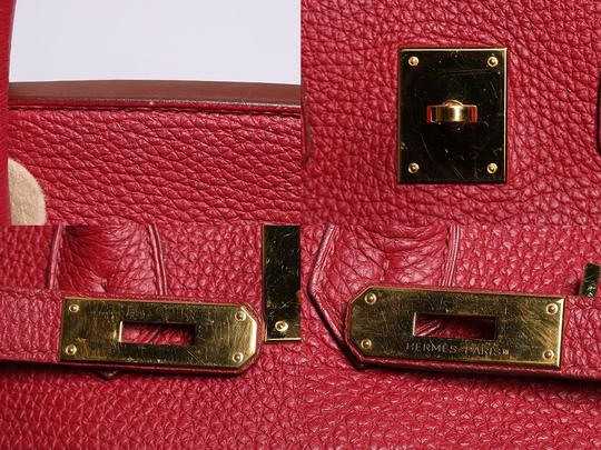Hermès Ruby 35 Hr.p0517.08 Gold Hardware Reduced Price Satchel in Red Image 11