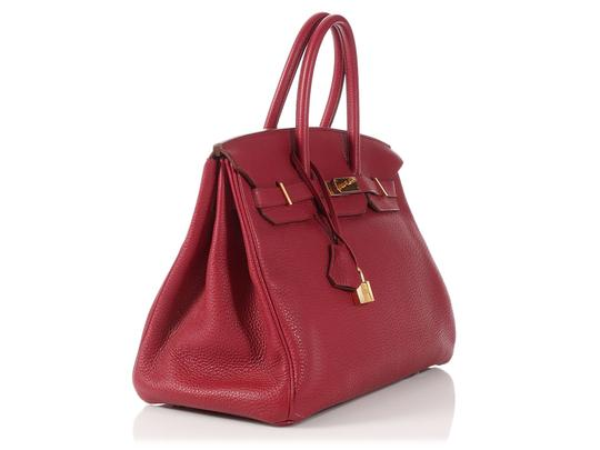 Hermès Ruby 35 Hr.p0517.08 Gold Hardware Reduced Price Satchel in Red Image 3