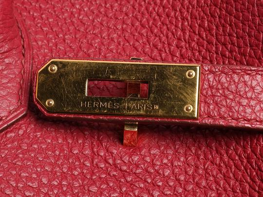 Hermès Ruby 35 Hr.p0517.08 Gold Hardware Reduced Price Satchel in Red Image 5