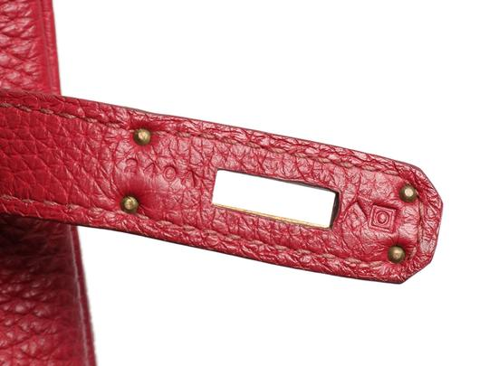 Hermès Ruby 35 Hr.p0517.08 Gold Hardware Reduced Price Satchel in Red Image 6