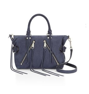Rebecca Minkoff Nubuck Leather Satchel in Moon Blue