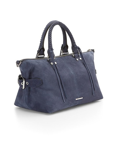 Rebecca Minkoff Nubuck Leather Satchel in Moon Blue Image 2