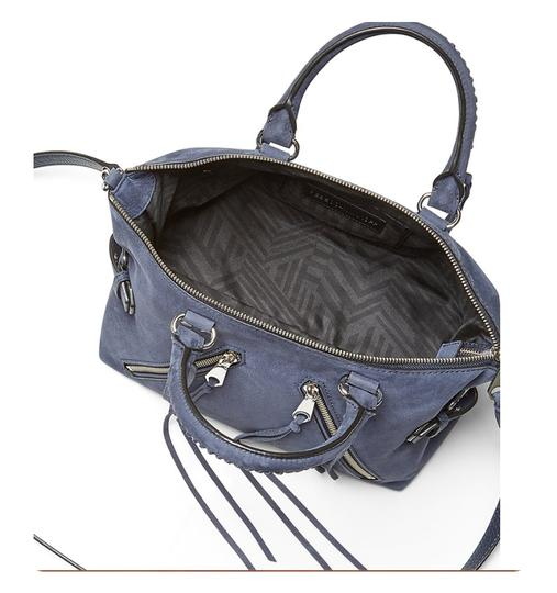 Rebecca Minkoff Nubuck Leather Satchel in Moon Blue Image 3