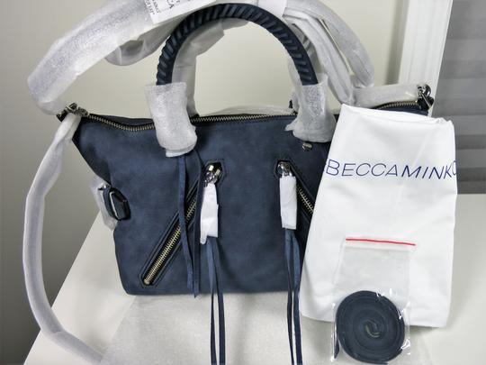 Rebecca Minkoff Nubuck Leather Satchel in Moon Blue Image 4