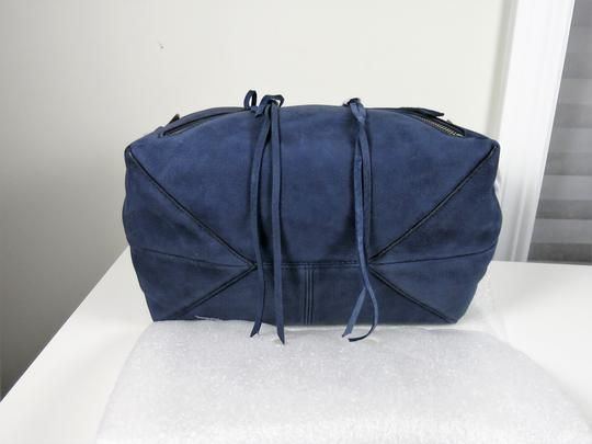 Rebecca Minkoff Nubuck Leather Satchel in Moon Blue Image 5