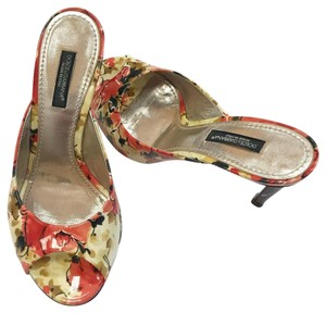 5ea7b356d08 Dolce Gabbana Floral Open Toe Summer Patent Leather Leather Multi Pumps