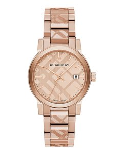 Burberry $700 NWT Swiss Rose Gold Ion-Plated Bracelet Watch BU9039