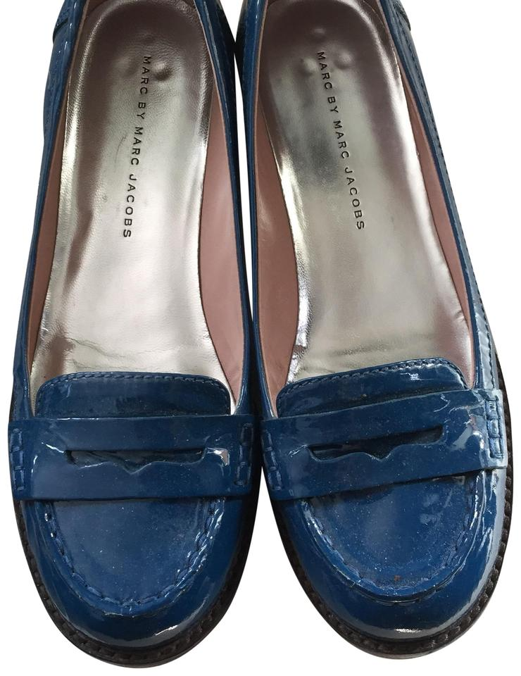 Marc Patent by Marc Jacobs Blue Patent Marc Loafer Flats ab87d9