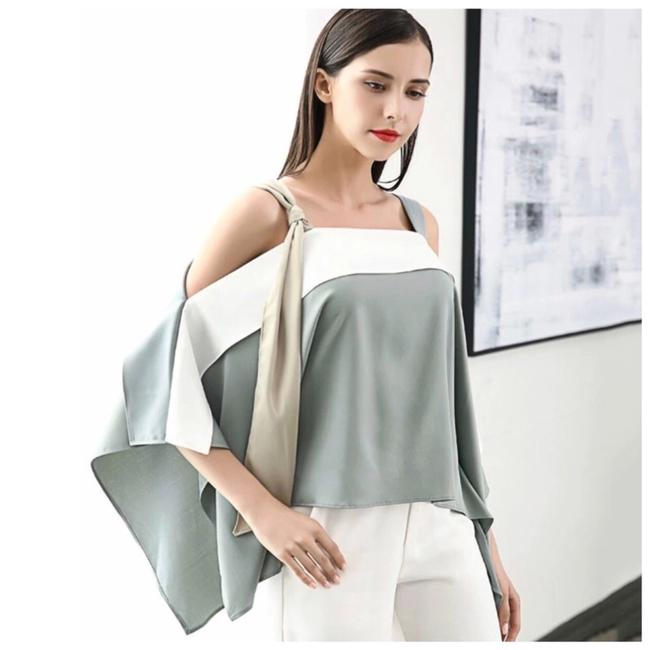 Preload https://img-static.tradesy.com/item/23559095/multicolor-silky-color-asymmetrical-strappy-blouse-size-os-one-size-0-1-650-650.jpg