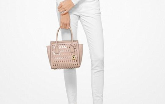 Michael Kors Purse Sale Mercer Small Tote in Pink Image 1