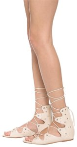 IRO Lace Up Greekstyle Studded Nude Sandals