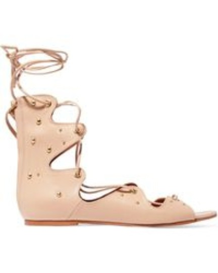 IRO Lace Up Greekstyle Studded Nude Sandals Image 2