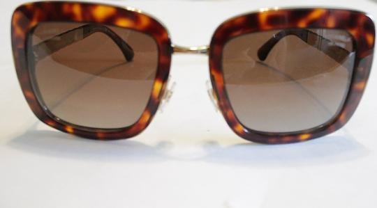 Chanel Chanel Brown Tortoise Polarized Sunglasses 5369 Gold Tone Quilted Arms Image 8