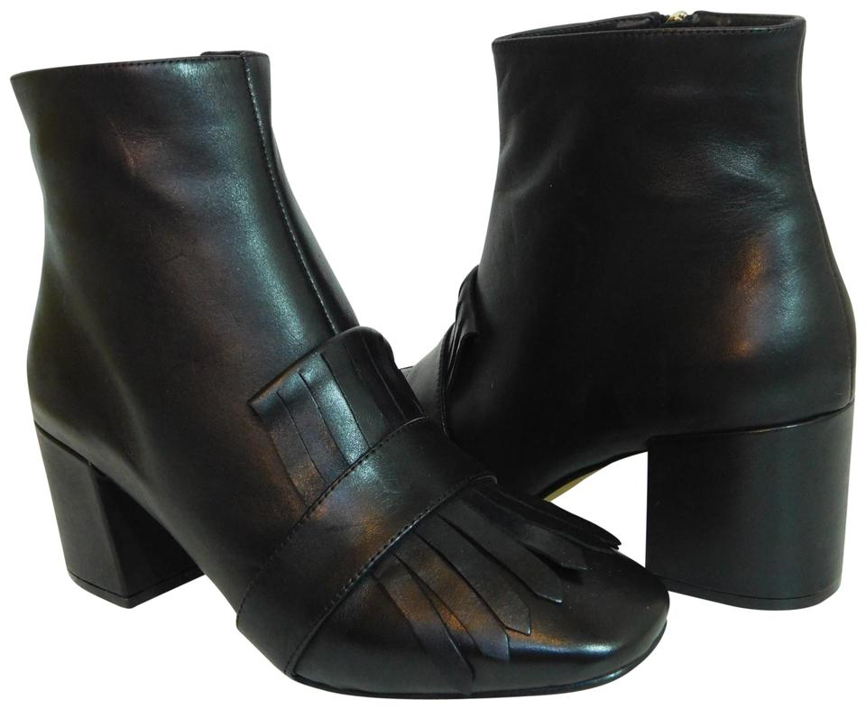 cfad9979ae2 Steven by Steve Madden Black New Shooter Kiltie Ankle Boots Booties ...
