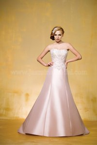 Jasmine Couture Bridal Ivory Silk Taffetta T162002 Formal Wedding Dress Size 6 (S)