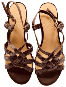 Saks Fifth Avenue 10022 Brand Brown Sandals