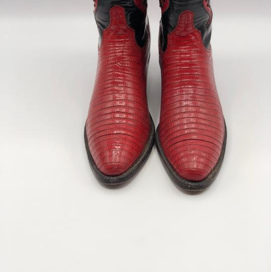Lucchese Black and Red Boots Image 1