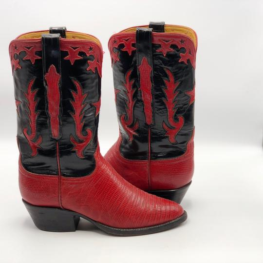 Lucchese Black and Red Boots Image 2