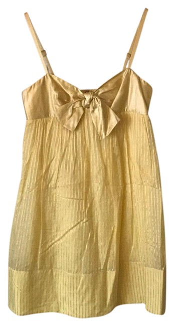 Preload https://img-static.tradesy.com/item/23559413/bcbgmaxazria-yellow-bcbg-short-casual-dress-size-0-xs-0-1-650-650.jpg