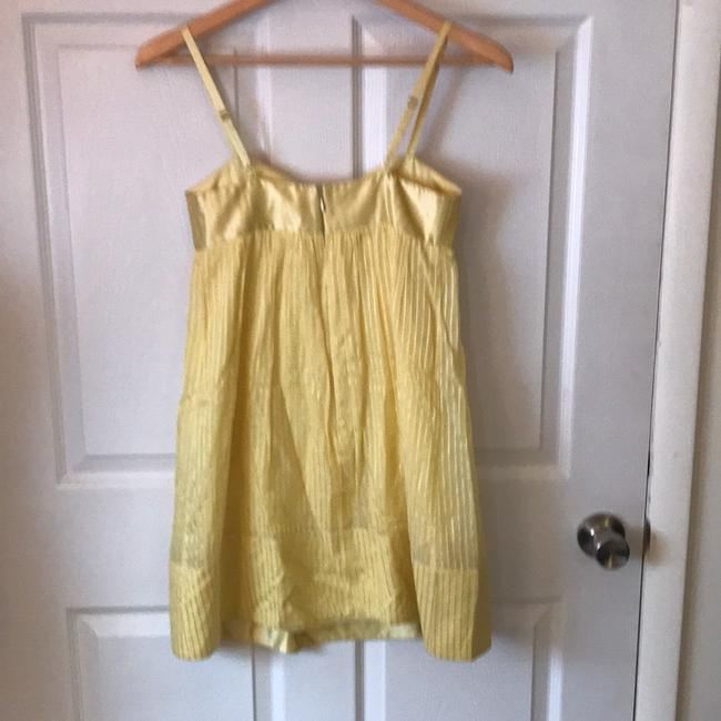 BCBGMAXAZRIA short dress yellow on Tradesy Image 3