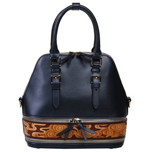 Bellorita Hand Tooled Hand Painted Leather Satchel in Blue