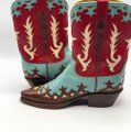 Lucchese Brown, Turquoise, Red and White Boots Image 2