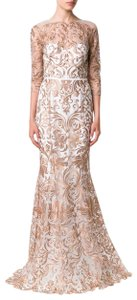 Marchesa Notte Embroidered Evening Mermaid Gown Dress