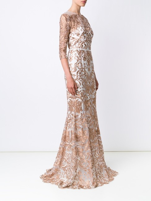 Marchesa Notte Embroidered Evening Mermaid Gown Dress Image 1