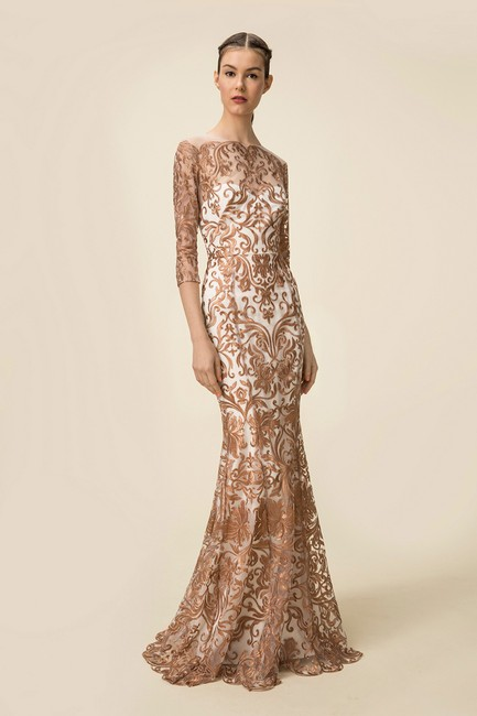 Marchesa Notte Embroidered Evening Mermaid Gown Dress Image 10