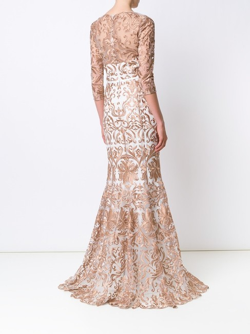 Marchesa Notte Embroidered Evening Mermaid Gown Dress Image 2
