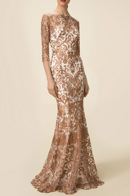 Marchesa Notte Embroidered Evening Mermaid Gown Dress Image 3