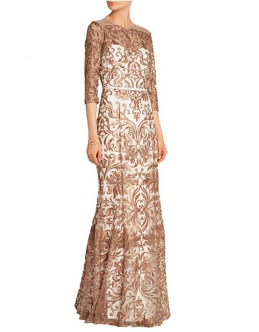Marchesa Notte Embroidered Evening Mermaid Gown Dress Image 5