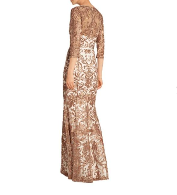 Marchesa Notte Embroidered Evening Mermaid Gown Dress Image 6