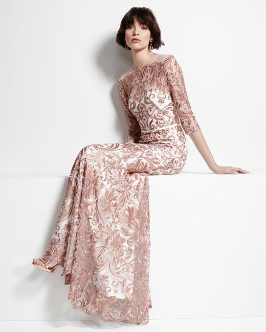 Marchesa Notte Embroidered Evening Mermaid Gown Dress Image 9