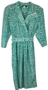 Petite Sophisticate short dress Green, White on Tradesy