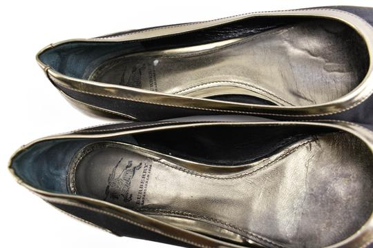 Burberry Satin Leather Ballet Gems Black Flats Image 7