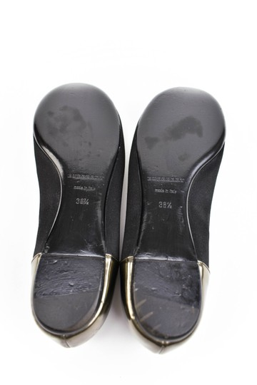 Burberry Satin Leather Ballet Gems Black Flats Image 8