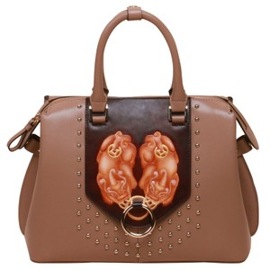 Bellorita Hand Tooled Hand Painted Leather Satchel in Brown