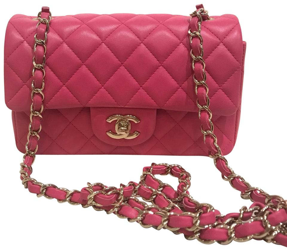 31ab9791f45 Chanel Classic Flap Rectangular Mini Hot Pink Shoulder Bag - Tradesy