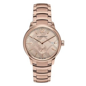 Burberry $1000 NWT Swiss Rose Gold Ion-Plated Men's Watch BU10013