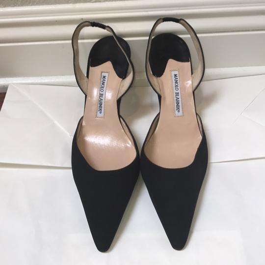 Manolo Blahnik Pointed Toe Slingback black Pumps Image 1