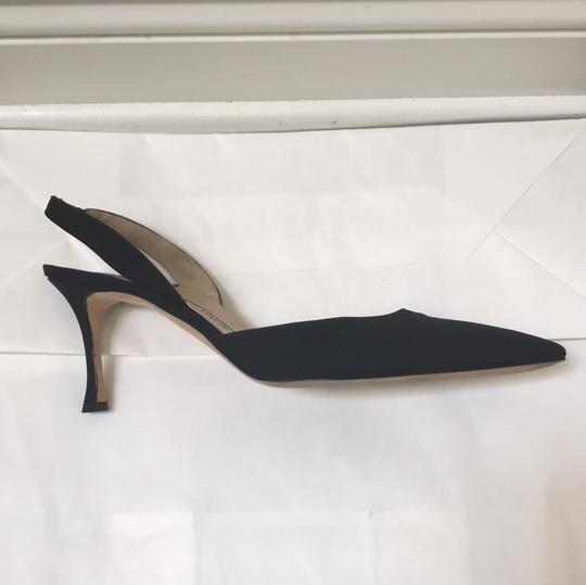 Manolo Blahnik Pointed Toe Slingback black Pumps Image 5