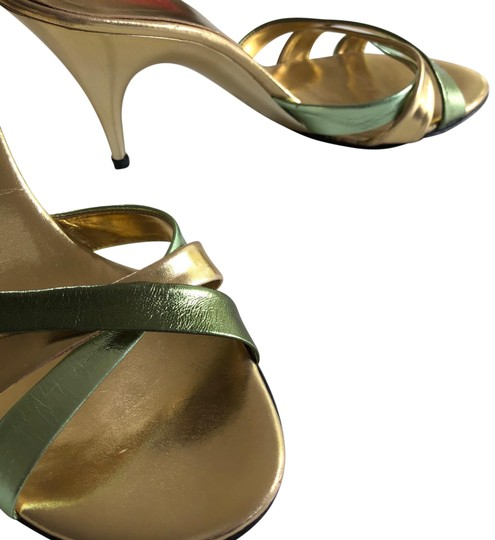 Preload https://img-static.tradesy.com/item/23559888/michael-kors-collection-gold-stilettos-with-goldgreen-leather-straps-pumps-size-us-10-regular-m-b-0-1-540-540.jpg