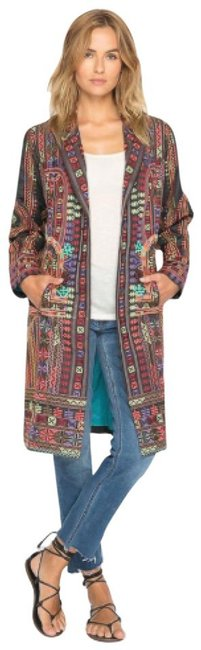 Item - Multicolor Ornate Embroidered Coat Size 6 (S)