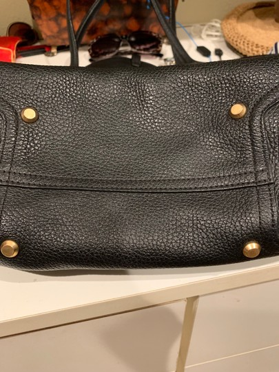 Annabel Ingall Leather Gold Hardware Tote in black Image 4