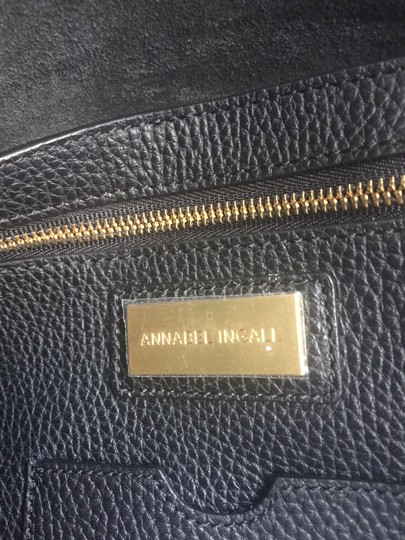 Annabel Ingall Leather Gold Hardware Tote in black Image 3