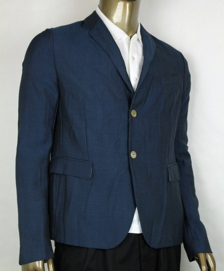 Gucci Blue Saphire Wool/Mohair Formal Jacket 2 Buttons It 54r/Us 44r 400669 4200 Groomsman Gift Image 1