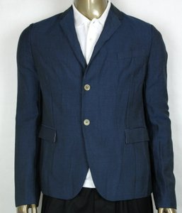 Gucci Blue Saphire Wool/Mohair Formal Jacket 2 Buttons It 56r/Us 46r 400669 4200 Groomsman Gift
