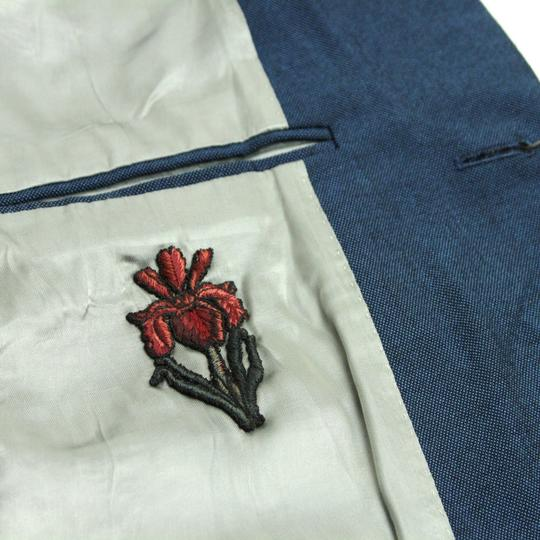 Gucci Blue Saphire Wool/Mohair Formal Jacket 2 Buttons It 56r/Us 46r 400669 4200 Groomsman Gift Image 5