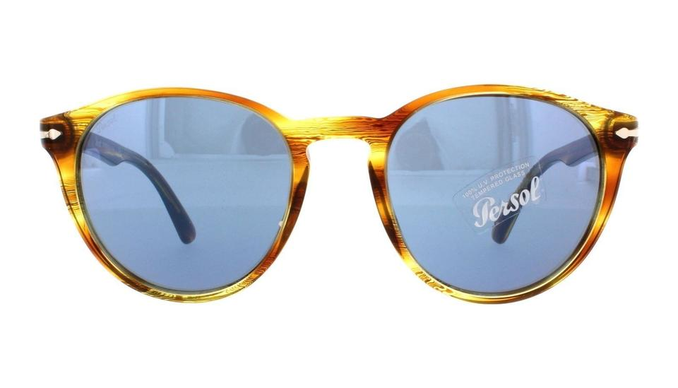 e122db347eb68 Persol Persol PO 3152S 9043 56 Striped Brown Yellow Gradient Blue Lens  Image 0 ...